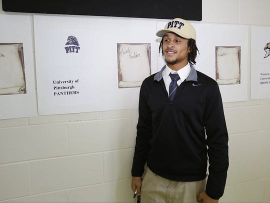 Detroit King's Avonte Maddox poses for a photo after