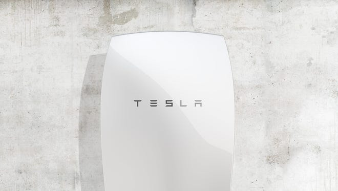 The Tesla Powerwall is a wall-mounted home battery unit that can store renewable energy.