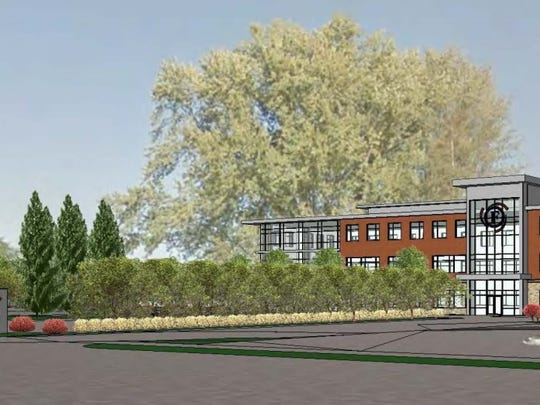 A rendering of Forward Financial Bank's new headquarters on Central Avenue in Marshfield.