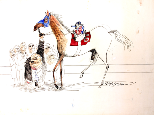 Kentucky Derby themed illustration by artist Ralph