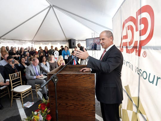 Carlos Rodriguez, ADP chief executive officer, speaks