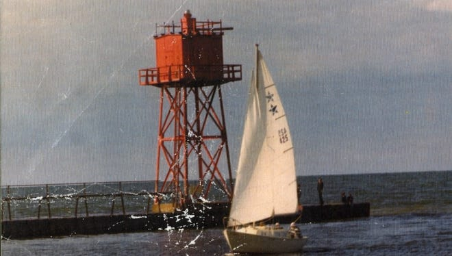 The red light tower stood at the end of the Charlotte pier for many years.