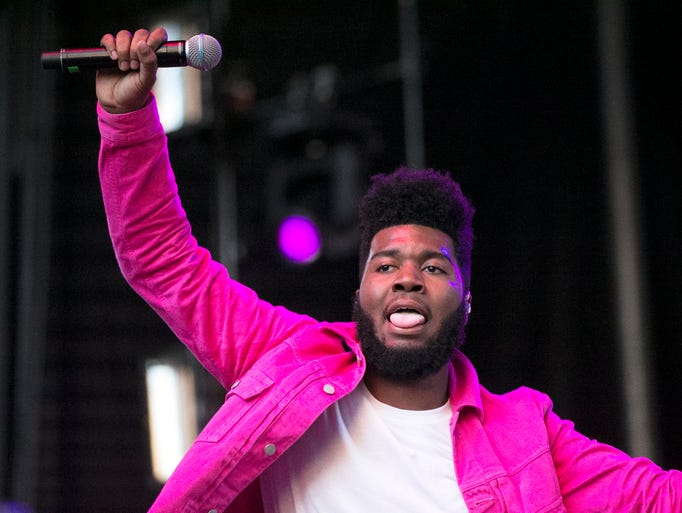 Singer-songwriter Khalid performs to an enthusiastic