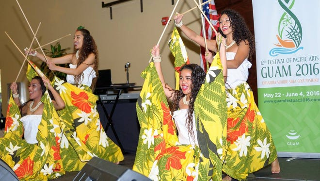 Uno Hit delegates performing at the Jan. 16 Festival of Chamorro Arts.