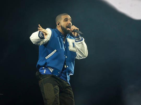 Hip-hop artist Drake performs to a sold out crowd on