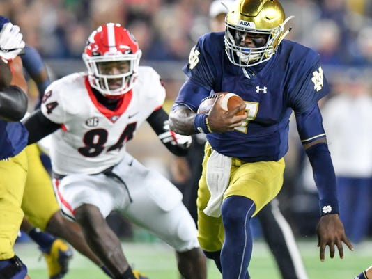 NCAA Football: Georgia at Notre Dame