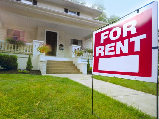 FOR RENT SIGN STOCK IMAGE