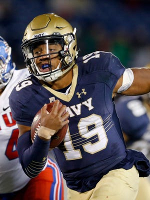 Navy quarterback Keenan Reynolds is one of 85 former Midstate players who will play in bowl games.