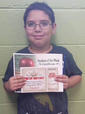 Dickson Elementary Student of the Week, Sept. 21 - Dempsey Serrano.