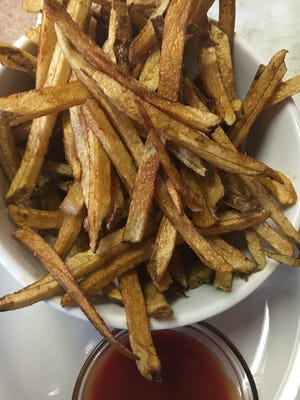 Hand cut Idaho potatoes with gluten free ketchup will be free today at Hobos Restaurant.