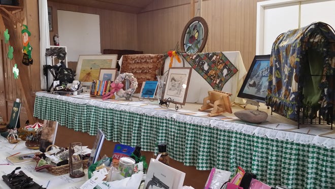 Auction prizes were display at the 2014 St. Paddy's dinner and auction event.