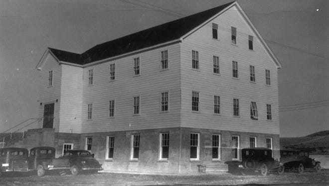 The former inmates' house at the poor farm, later became the Men's Co-op at Northern Montana College.