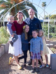 Jolene Kuty and Daniel Gottlieb with their children,