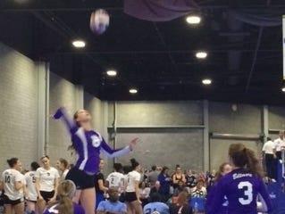 Enka senior SallyAnne Johnson is part of the Biltmore Volleyball Academy program.