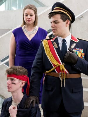 "Nick Kelliher, Andrea Bickford and Jacob Kerzner star in ""La Clemenza di Tito"" at Ithaca College."