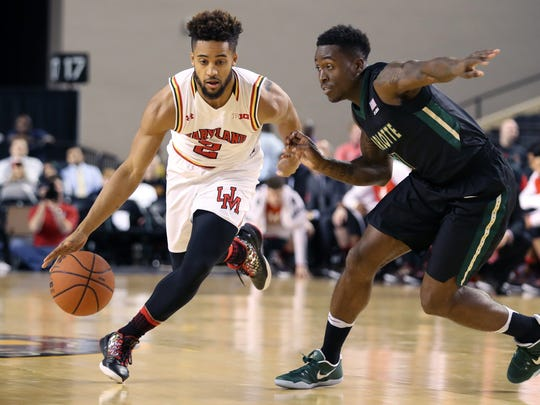 Once again, Melo Trimble leads the way for the Terrapins.