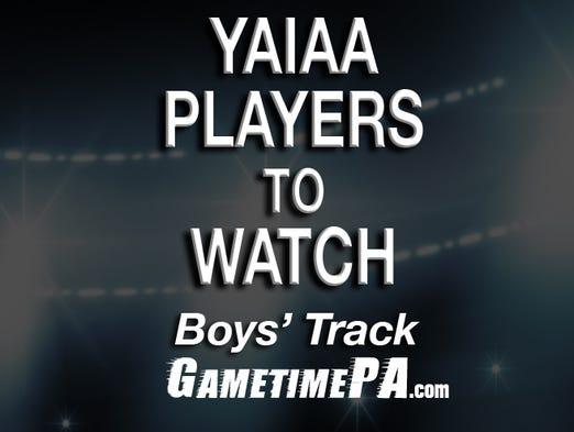 YAIAA boys' track players to watch.