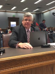 Rep. Lance Harris' bill to phase out the 0.45-cent state sales cleared the House Ways and Means Committee Monday.