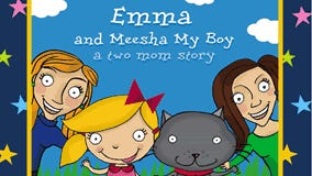 """The cover of """"Emma and Meesha My Boy: A Two Mom Story."""""""