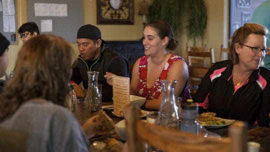 Guests at Movara Fitness Resort gather to enjoy a meal