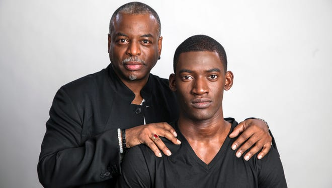 """Roots"" producer LeVar Burton, left, and star Malachi Kirby in New York."