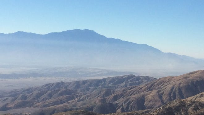 A scenic overlook at Joshua Tree National Park in California wasn't particularly scenic last week because of haze.