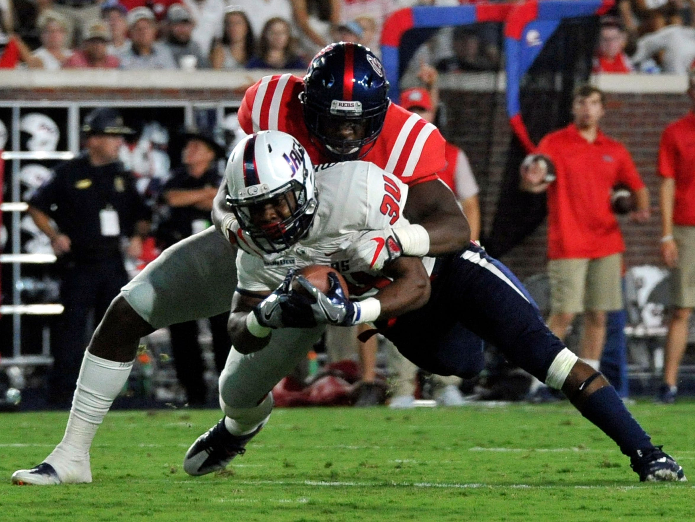 Ole Miss defensive back C.J. Moore, a former Bassfield