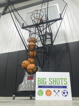 The Dr. Dish Basketball Machine at the Big Shots Sports Training facility.