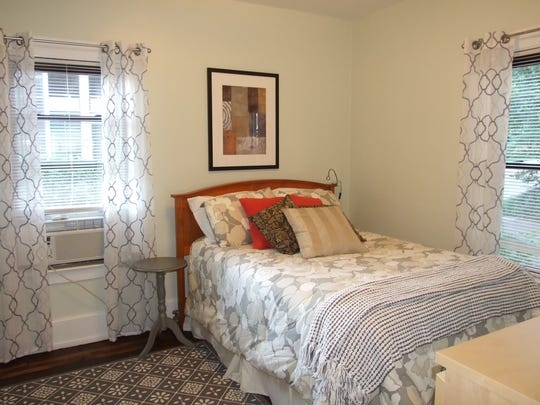 A bedroom in one of the suites in the Transplant House of Cleveland.