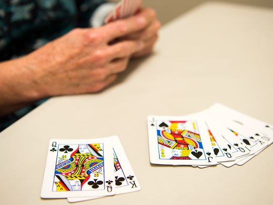 Points are scored through certain combinations of cards,