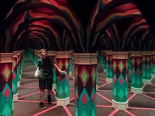 The Island's mirror maze on Monday, June 4, 2018.