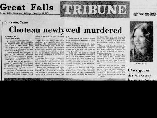 Debra Reiding of Choteau was murdered in Austin, Texas