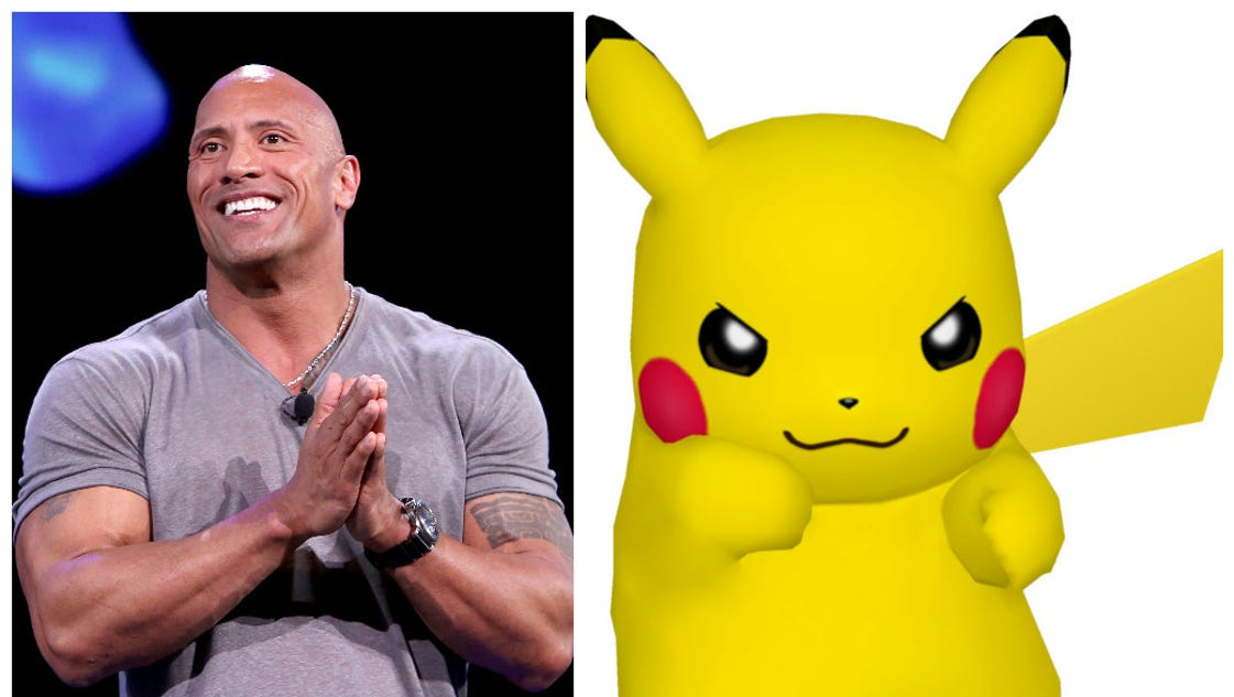 Father of the year Dwayne 'The Rock' Johnson is stuck forever in Pikachu hell