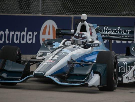 Max Chilton driving the No. 8 Honda for Chip Ganassi