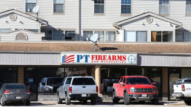 PT Firearms and Accessories in Cross Plains, Wis., is pictured on Feb. 16, 2018. According to law enforcement, this is where a gun that was used to shoot and kill Chicago police Cmdr. Paul Bauer was purchased.