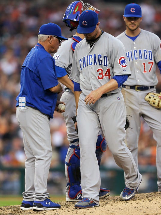 Sanchez and Davis lead Tigers to 6-0 win over Cubs
