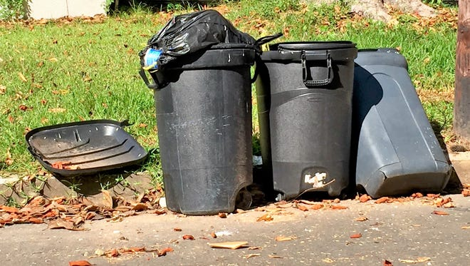 Under a new ordinance, residents of Alexandria can be fined for putting their trash cans on streets or sidewalks more than 24 hours before pickup, or failing to take them in more than 24 hours after pickup.