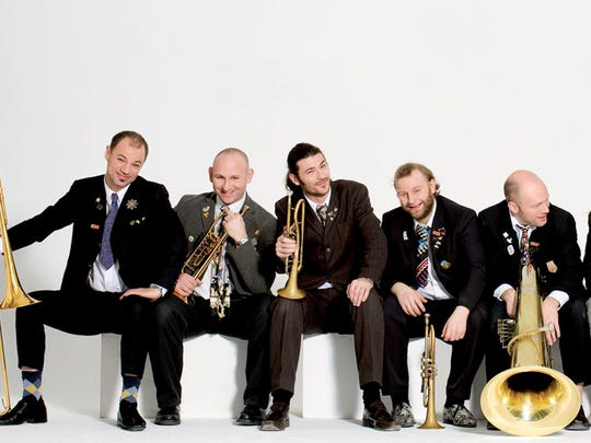 The Mnozil Brass ensemble from Austria brings its light-hearted