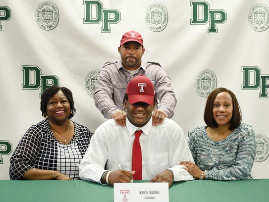 Khris Banks who is going to Temple University, has