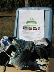 Bring shoes to donate to the Trash Dash.