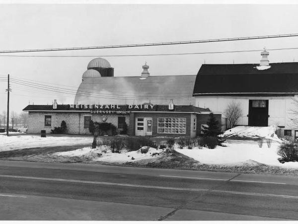At its peak, Meisenzahl Dairy in Henrietta was the largest independent dairy in the area.