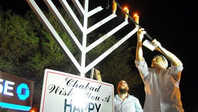The annual public Hanukkah  celebration is up in the air following disputes over the venue location