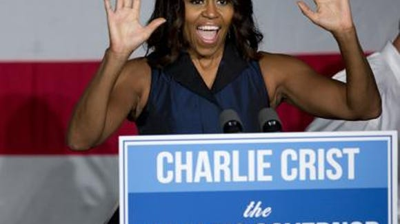 First Lady Michelle Obama on the campaign trail for candidates in Florida