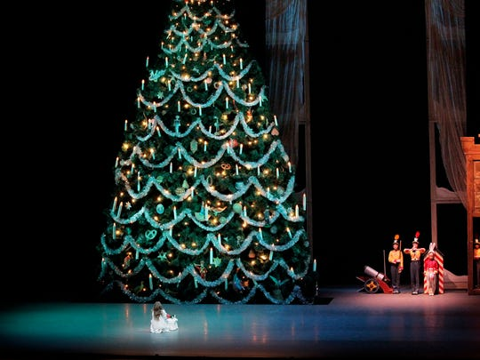 The Christmas tree in New York City Ballet's production