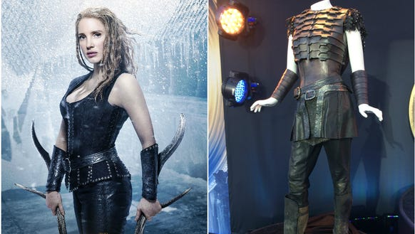 As Sara, Jessica Chastain wore plenty of leather and