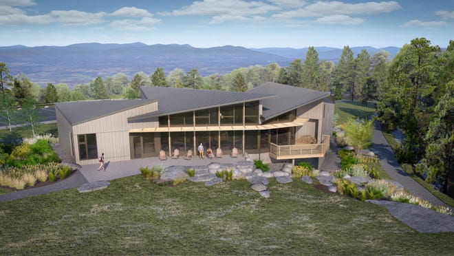 Rendering of Minnewaska State Park Preserve's $6.1 million  visitor center, which is currently being built and due to open in the fall.