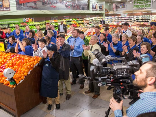 Hundreds of customers come through the doors to shop at the grand opening of Kroger's first Muncie Pay Less store on Dec. 14 at the new location along McGalliard Road. Kroger invested about $3.8 million in the location on updates, fixtures and technology.