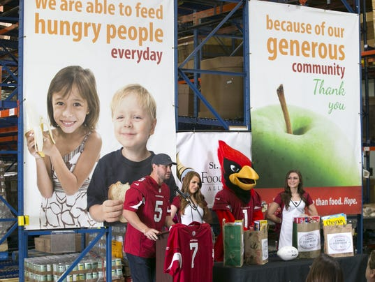 St. Mary's Food Bank donation event