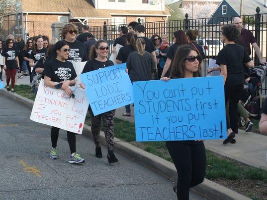 Lodi Teacher rally