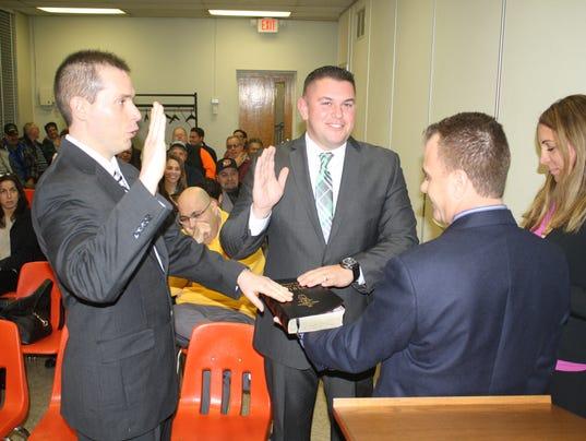 Miller Curioni sworn in